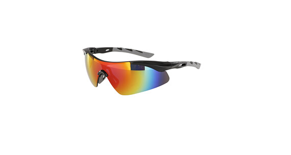 XLC Komodo SG-C09 Sonnenbrille schwarz-grau/grau verspiegelt